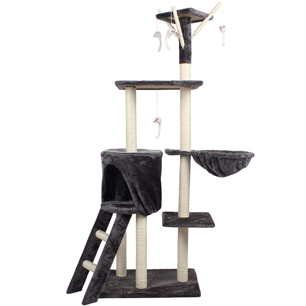 TOUYOUIOPNG Deluxe Multi Level Cat Tree Creative Play Towers Trees for Cats Five-layer cat climb Rack cat Litter cat tree cat platform sisal grinding claw for game sleeping 138cm 50cm  36cm