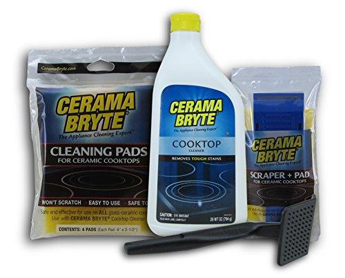 Cerama Bryte Cleaning Kit Ceramic Cooktop Cleaner 28oz