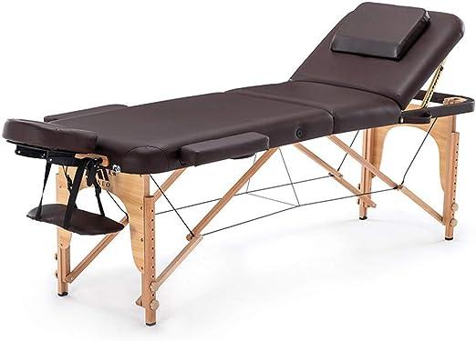 ZJDU Mesa De Masaje Plegable, Lash Bed con Reposacabezas Y ...