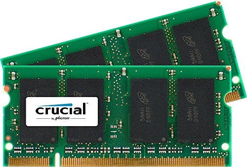 Crucial 2GB Kit (1GBx2) DDR2 667MHz (PC2-5300) CL5 SODIMM 200-Pin Notebook Memory Modules CT2KIT12864AC667 (E1505 Upgrade Memory)