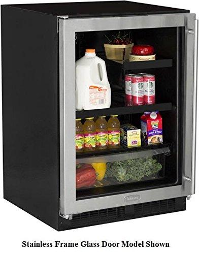 Marvel ML24BRP3LP Beverage Refrigerator with 60/40 Split Convertible Shelf and MaxStore Utility Bin, Solid Panel Overlay Ready Door, Left Hinge, 24