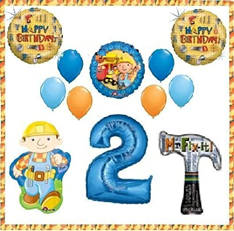 amazon com bob the builder tools hammer party supplies balloons