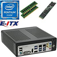 E-ITX ITX350 Asrock H270M-ITX-AC Intel Pentium G4600 (Kaby Lake) Mini-ITX System , 16GB Dual Channel DDR4, 120GB M.2 SSD, WiFi, Bluetooth, Pre-Assembled and Tested by E-ITX