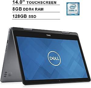 2020 Dell Inspiron 14 2-in-1 14 Inch HD Touchscreen Laptop (Intel Core i3-8145U to 3.9GHz, 8GB RAM, 128GB SSD, WiFi, Bluetooth, HDMI, Windows 10 Home) (Grey)