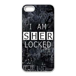 iphone5 5s case , Sherlock iphone5 5s Cell phone case White-YYTFG-17716