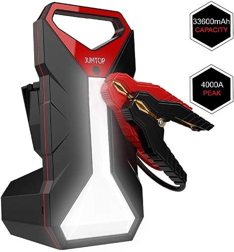Amazon.com: JUMTOP QDSP Arrancador portátil para coche, 4000 ...