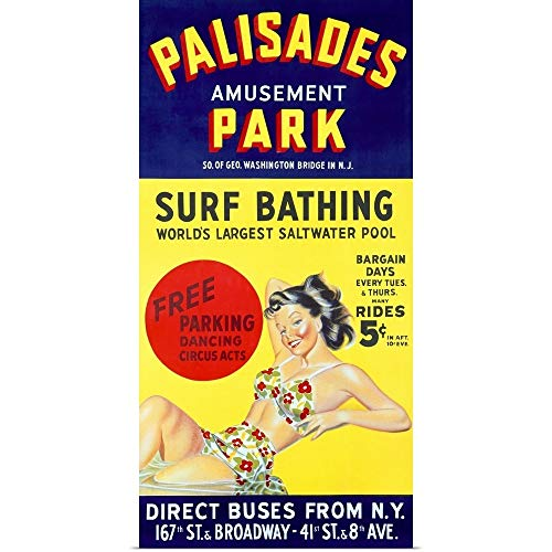 GREATBIGCANVAS Poster Print Entitled Palisades Amusement Park, Vintage Poster by ()