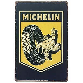 Placas Decorativas Vintage metalicas Michelin