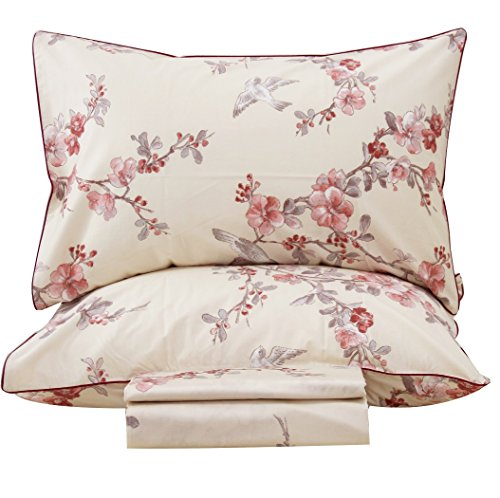 (Queen's House Shabby and Vintage Branches Bed Sheet Sets-Queen,D)