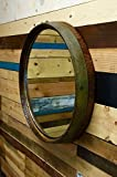 Extra Large Wine Barrel Top Mirror