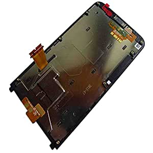 UFIXOK Complete LCD Display Touch Screen Glass Panel Digitizer Assembly + Frame Replacement Repair Parts For Blackberry Z30 CDMA Version Black