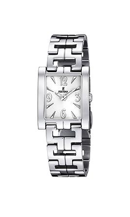 FESTINA F16364/1 - Reloj de Mujer de Cuarzo, Correa de Acero Inoxidable Color Plata: Festina: Amazon.es: Relojes