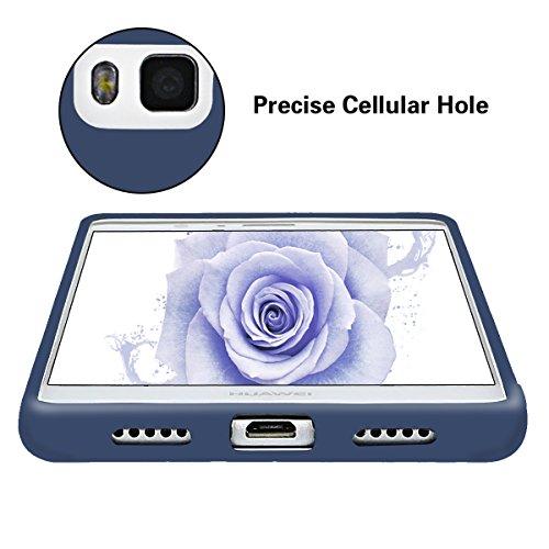 Funda Huawei P9 Lite, CaseLover Ultra Delgado Suave TPU Carcasa para Huawei P9 Lite (5.2 Pulgadas) Flexible Silicona Parachoques Gel Arañazos Absorbente Resistante Goma Mate Opaco Amortigua Golpes Pro Azul oscuro