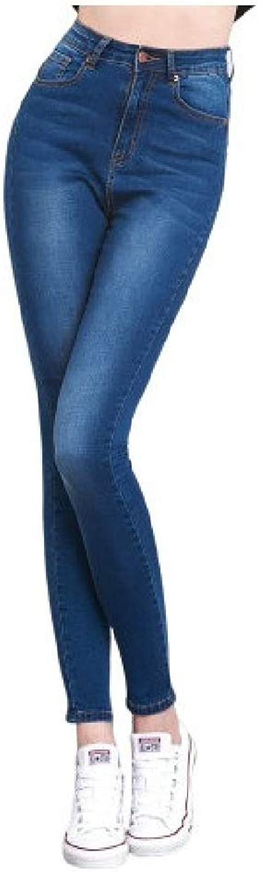 Nicellyer Women Plus Size Pocketed Ombre High Waisted Stretch Wash Comfy Denim Jeans
