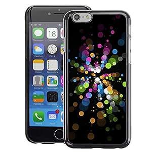 A-type Arte & diseño plástico duro Fundas Cover Cubre Hard Case Cover para iPhone 6 (Bubbles Vibrant Black Dark Green Blue)