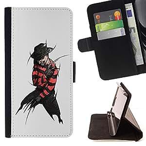 BullDog Case - FOR/Samsung Galaxy S3 III I9300 / - / villain criminal black devil hat dark man art /- Monedero de cuero de la PU Llevar cubierta de la caja con el ID Credit Card Slots Flip funda de cuer