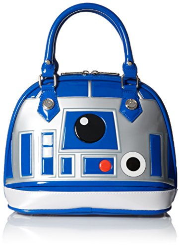 Star Wars Purse (Loungefly Star Wars R2D2 Blue/White/Silver Patent Dome Bag)