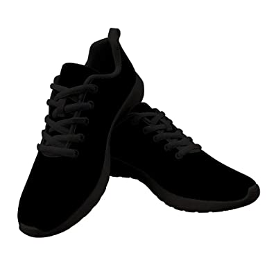 7a09ca34 Dellukee Canvas Running Shoes Women Black Black Casual Non Slip Wide Width  Sneakers