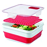 Cool Gear cool gear 2 PACK - EXPANDABLE ON THE GO - W/BONUS STEAMER TRAY, Red