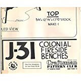 Vintage 1949 (Out of Print) Craftsman Paper Woodworking Plans Colonial Fireside Benches No. J-31