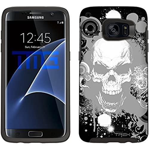 Skin Decal for Otterbox Symmetry Samsung Galaxy S7 Edge Case - White Skull on Black Sales