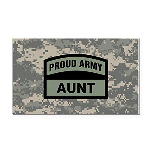 CafePress - Proud Army Aunt Camo Rectangle Car Magnet - Rectangle Car Magnet, Magnetic Bumper Sticker -