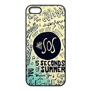 AMAF ? Accessories Custom Design 5 Seconds of Summer 6 plus 5.5os TPU Protective Snap On Case Cover For iPhone 6 plus 5.5 [ 5 sos ]