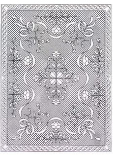 Amazon.com: Pre-Printed Pre Stenciled Wholecloth Quilt Top with ... : preprinted quilt tops - Adamdwight.com