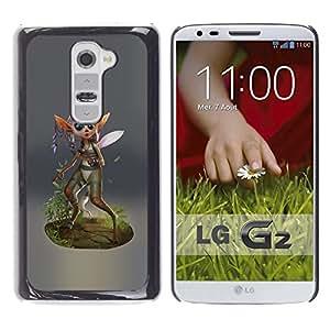 Be Good Phone Accessory // Dura Cáscara cubierta Protectora Caso Carcasa Funda de Protección para LG G2 D800 D802 D802TA D803 VS980 LS980 // Fairy Forest Wings Magic Nature Green Eco