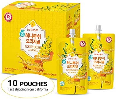 InnerSet Honeybush Original Nutricosmetic Beauty Drink Tea - 170 ml x 10 pouches - Fermented Extract/Skincare Patented Formulation/Anti Wrinkle/Made in Korea Ship from US