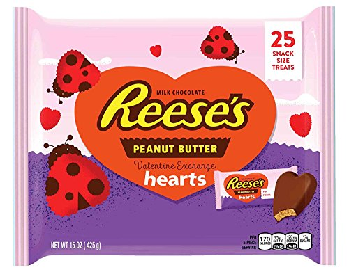 Reese's Peanut Butter Hearts for Valentine's Day, 15 Ounce Bag