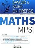 Savoir & Faire en Prépas Maths MPSI