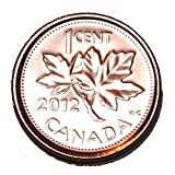 2012 1 Cent Canada Zinc Nice Uncirculated Canadian BU Penny Non Magnetic