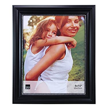 Kiera Grace Lucy Picture Frame, 8 by 10-Inch, Black with Silver Beading