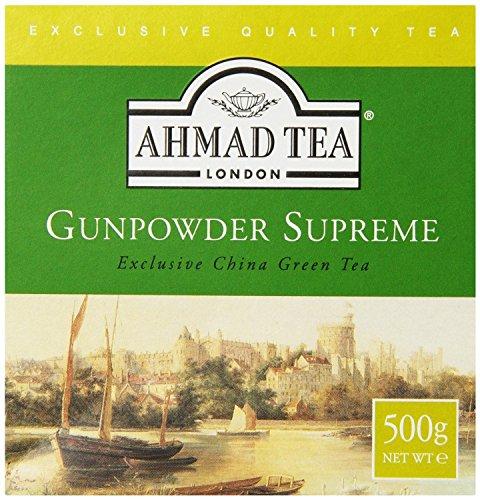 - Ahmad Tea Loose Leaf Green Tea, Gunpowder, 17.64 Ounce