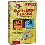 GoPong Hidden Sunscreen Alcohol Flask, 2-Pack