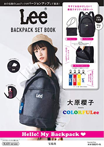 Lee BACKPACK SET BOOK BLACK version 画像