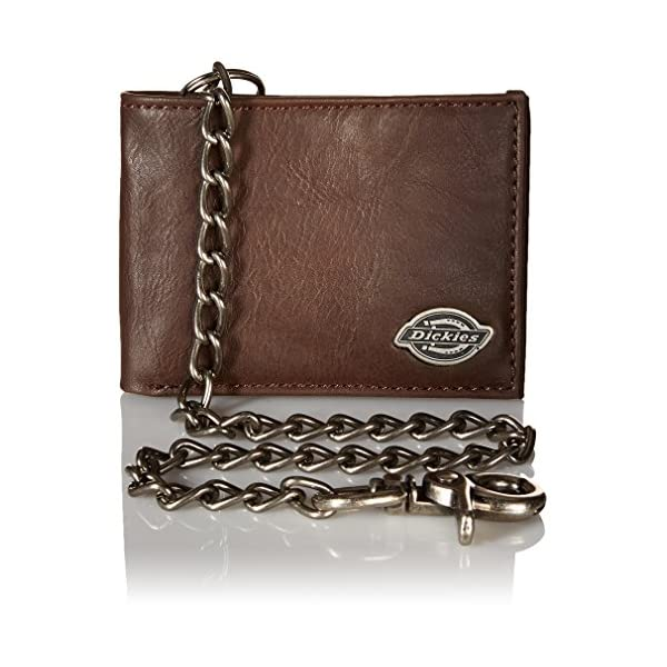 Dickies Mens Wallet with Chain – Leather Security Bifold Truckers Classic Slim...