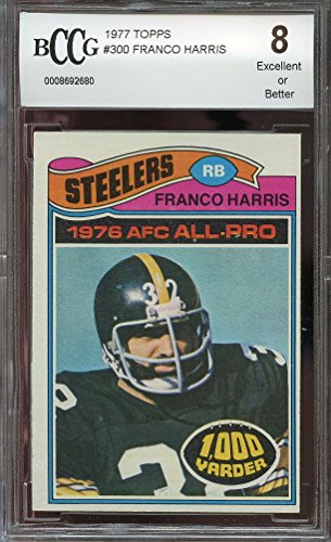 1977 topps #300 FRANCO HARRIS pittsburgh steelers BGS BCCG 8 Graded Card