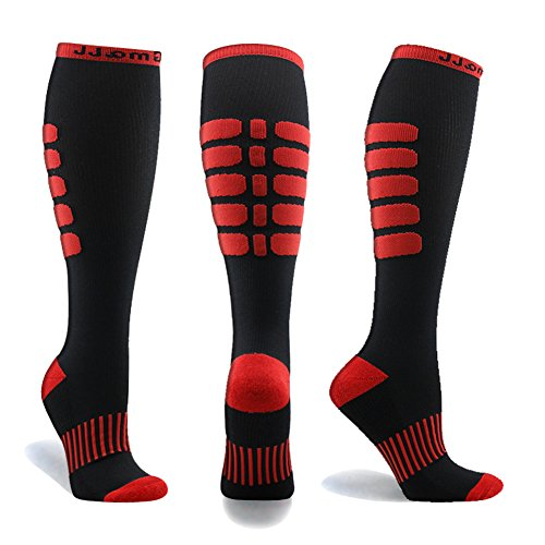 Gmall Premium Tight Fit Unisex Compression Running Socks 15-20 mmHg For Athletes, Sports, Cross Fit, Recovery Also Enhances Circulation And Stamina (Unisex Tights Compression)