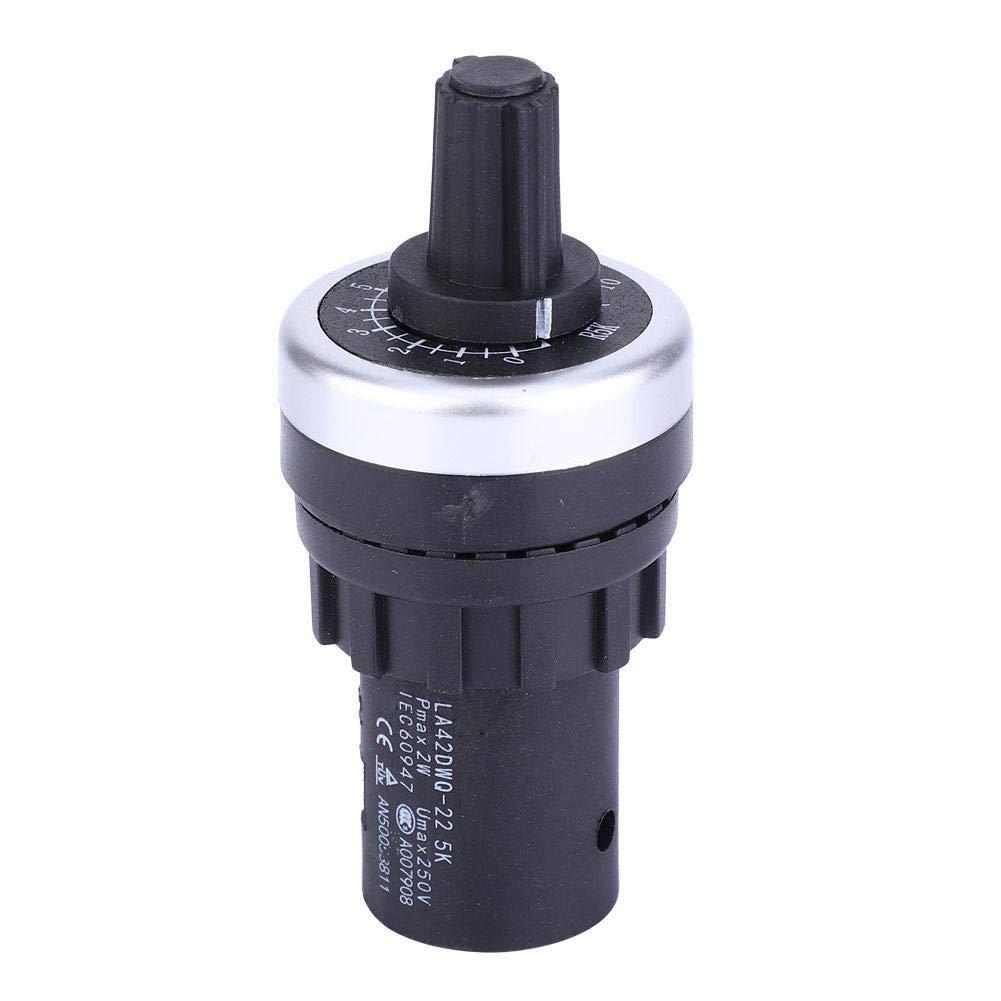 Potenci/ómetro LA42DWQ Potenci/ómetro de c/írculo simple ajustable de alta precisi/ón y velocidad variable 22 mm 5K