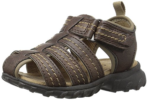 Toddler Fisherman Sandals (carter's Jupiter-C Boy's Casual Fisherman Sandal, Brown, 10 M US Toddler)