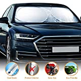 SOUDIO Car Sun Shade for Windshield UV and Sun Protection for Cars Trucks Vans SUVs - Keeps Your Car Cool