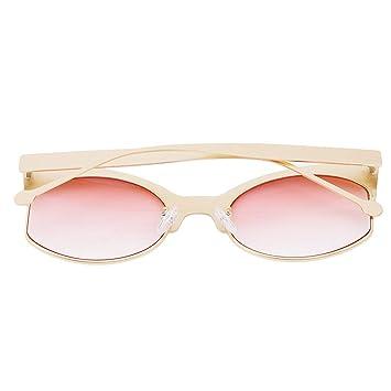 Amazon.com: YouCY - Gafas de sol con medio marco, gran marco ...