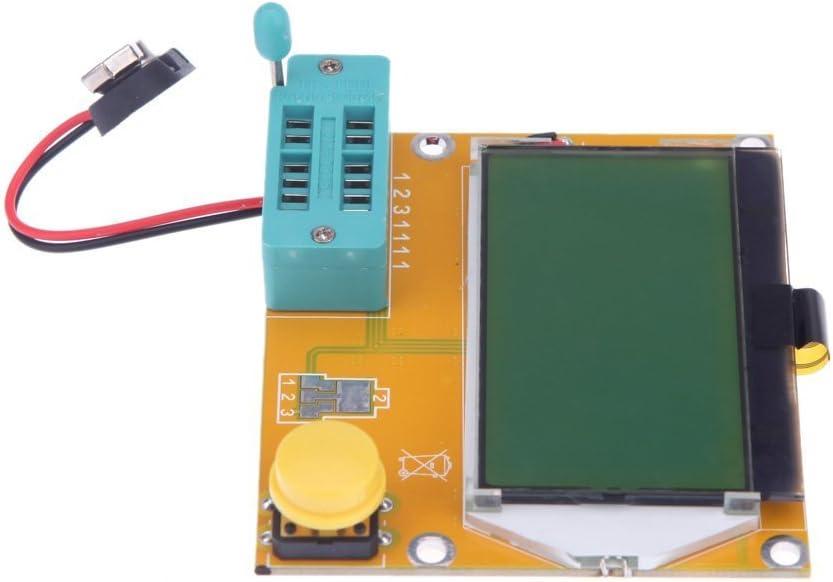SODIAL(R)128 * 64 LCD de color amarillo-verde contraluz ESR Metro ...
