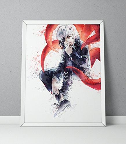 Tokyo Ghoul print, Tokyo Ghoul poster, Ken Kaneki print, Ken Kaneki poster, Anime poster,