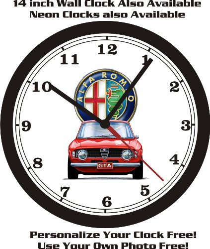 ALFA ROMEO GTA WALL CLOCK-FREE USA SHIP-NEW! (Clock Wall Honda)