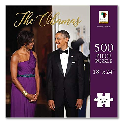 "Search : African American Expressions - The Obamas Puzzle (500 Pieces, 18"" x 24"") PUZ-16"