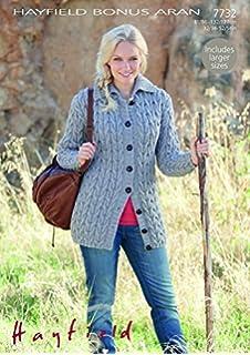 Hayfield ladies cardigans knitting pattern 7895 aran amazon hayfield ladies cardigan knitting pattern 7732 aran by sirdar dt1010fo