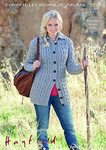 Hayfield Ladies Cardigan Knitting Pattern 7732 Aran By Sirdar